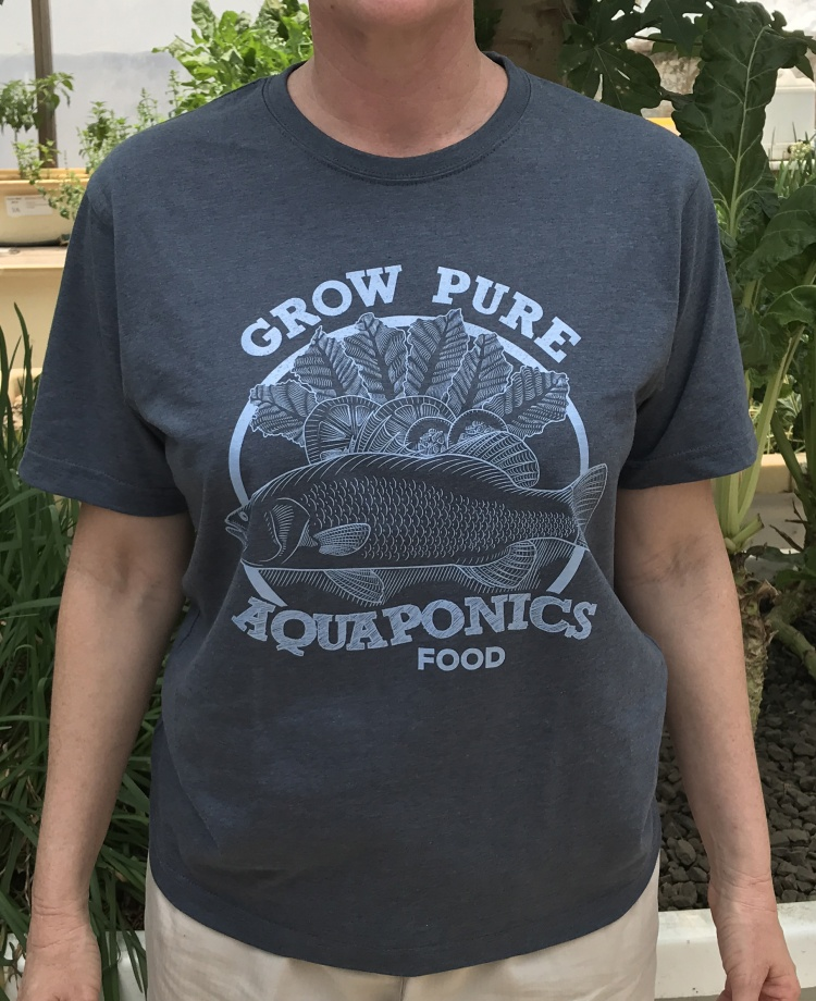 Aquaponics T-shirt Blue