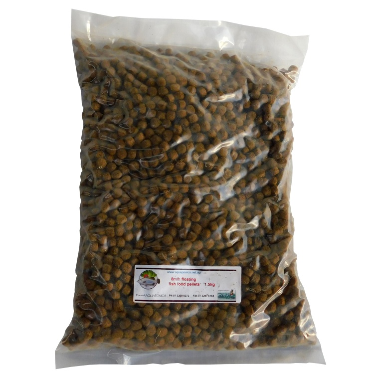 FLOATING Fish Food 8 mm. Aquaponics Fish Food.