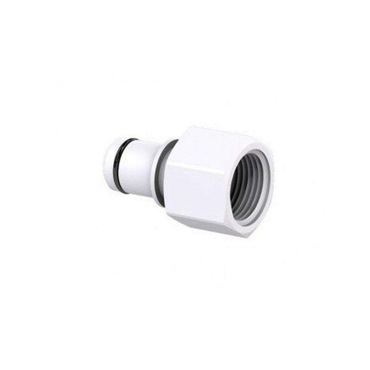 Female-threaded snap-on fitting 19 mm PVC